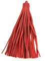 """Red Leather Tassel - Large 5"""" (LR37)"""
