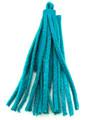 "Turquoise Leather Tassel - Small 4"" (LR49)"