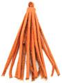 """Orange Leather Tassel - Small 4"""" (LR53)"""