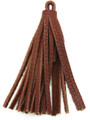 "Reddish Brown Leather Tassel - Small 4"" (LR58)"