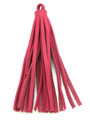 "Pink Leather Tassel - Small 4"" (LR59)"