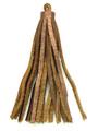 "Metallic Brown Leather Tassel - Small 4"" (LR61)"