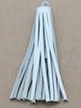 "White Leather Tassel - Small 4"" (LR64)"