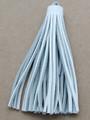 "White Leather Tassel - Large 5"" (LR65)"