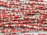 Small Red & White Glass Trade Beads 2mm (AT7028)