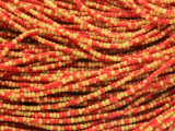 Yellow & Orange Glass Seed Beads 1mm - Ghana (AT7062)