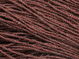 Red & White Glass Seed Beads 1mm - Ghana (AT7063)