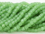 Spring Green Cube Crystal Glass Beads 4mm (CRY182)