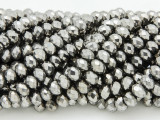 Gunmetal Silver Crystal Glass Beads 6mm (CRY212)