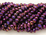 Metallic Purple Crystal Glass Beads 6mm (CRY214)