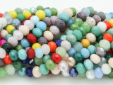 Multi-Colored Crystal Glass Beads 6mm (CRY217)