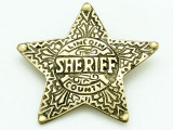 Sheriff Lincoln County Metal Badge 60mm (AP1840)