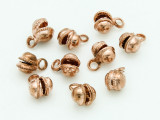 Copper Plated Clapperless Bells 10mm - Pack of 10 (AP1842)