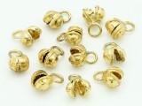 Brass Plated Clapperless Bells 10mm - Pack of 10 (AP1843)