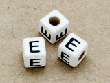 "Ceramic Alphabet Bead ""E"" - 6mm (CER23)"