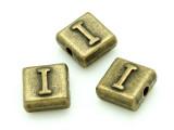 Brass Pewter - I - Square Bead 10mm (PB627)