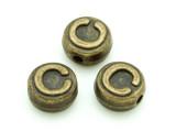 Brass Pewter - C - Round Bead 10mm (PB647)