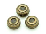 Brass Pewter - O - Round Bead 10mm (PB657)