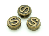 Brass Pewter - S - Round Bead 10mm (PB660)