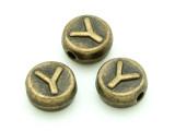 Brass Pewter - Y - Round Bead 10mm (PB662)