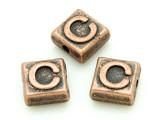 Copper Pewter - C - Square Bead 10mm (PB664)