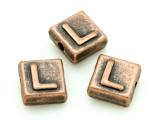 Copper Pewter - L - Square Bead 10mm (PB671)