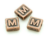 Copper Pewter - M - Square Bead 10mm (PB672)