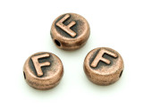 Copper Pewter - F - Round Bead 10mm (PB677)