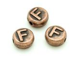 Copper Pewter - F - Round Bead 10mm (PB677)