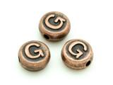 Copper Pewter - G - Round Bead 10mm (PB678)