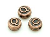 Copper Pewter - Q - Round Bead 10mm (PB679)