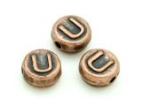 Copper Pewter - U - Round Bead 10mm (PB680)