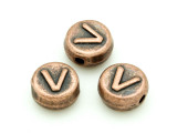 Copper Pewter - V - Round Bead 10mm (PB681)