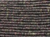 Purple Silver Line Jasper Heishi Gemstone Beads 4mm (GS3722)