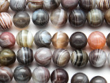 Botswana Agate Round Gemstone Beads 10mm (GS3723)
