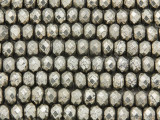 Iron Pyrite Faceted Rondelle Gemstone Beads 8mm (GS3746)