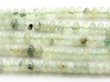 Prehnite Faceted Rondelle Gemstone Beads 10mm (GS3752)