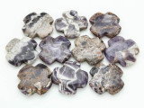 Chevron Amethyst Tabular Cross Gemstone Beads 40mm (GS3761)