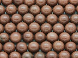 Brown Goldstone Round Gemstone Beads 10mm (GS3796)