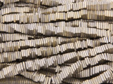 Bronze Electroplated Hematite Square Heishi Gemstone Beads 4mm (GS3803)