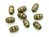 Brass Pewter Bead - Barrel 8mm (PB783)