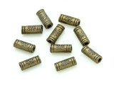 Brass Pewter Bead - Tube 10mm (PB789)