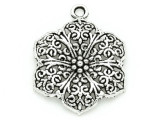 Flower - Pewter Pendant 31mm (PW794)