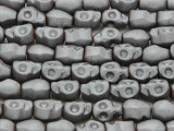 Silver Hematite Skull Gemstone Beads 10mm (GS3835)