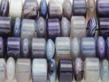 Purple Agate Cylinder & Disc Gemstone Beads 14mm (GS3848)