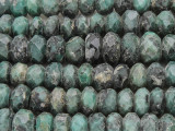 Emerald Faceted Rondelle Graduated Gemstone Beads 10-12mm (GS3861)