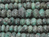 Emerald Faceted Rondelle Graduated Gemstone Beads 10-18mm (GS3862)