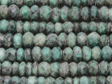 Emerald Faceted Rondelle Graduated Gemstone Beads 5-12mm (GS3863)