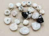 Dendritic Agate Teardrop Gemstone Beads 11-19mm (GS3901)