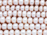Pink Rondelle Pearl Beads 10mm - Large Hole (PRL186)